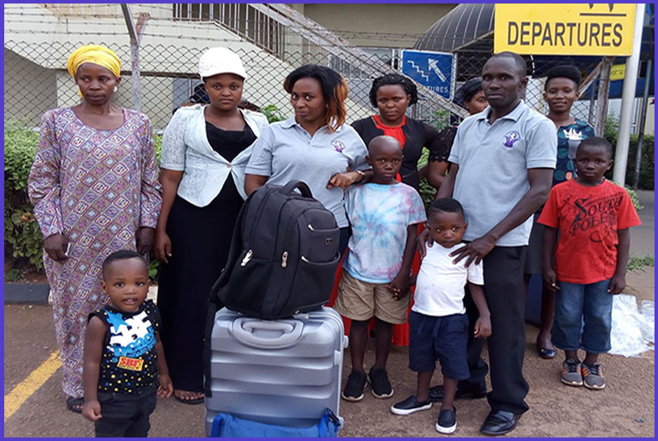Sauya Nabatu, one of our Volunteer Coordinators left the country for United Kingdom to volunteer for one year, courtesy of Volunteers for Change Uganda (V.O.C.U).