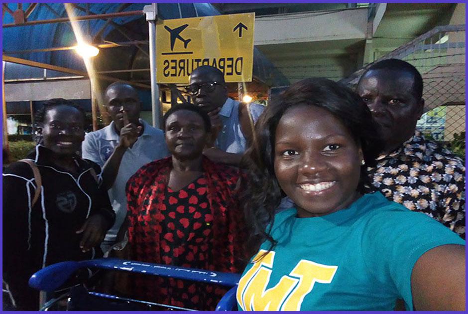 Maria Daphine Gwokyalya and Regina Maria Lunkuse, left for the Republic of Ireland to volunteer for 12 months, courtesy of Volunteers for Change Uganda (V.O.C.U).