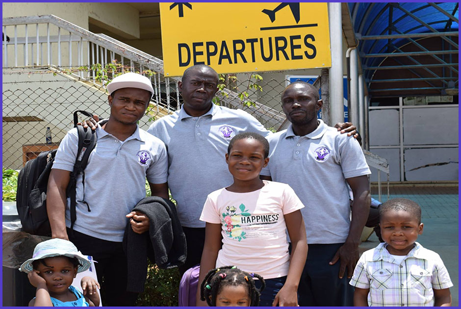 Jonathan Edrine Busobozi, our nice volunteer also travelled to the Republic of Ireland to volunteer for 12 months, courtesy of Volunteers for Change Uganda (V.O.C.U).